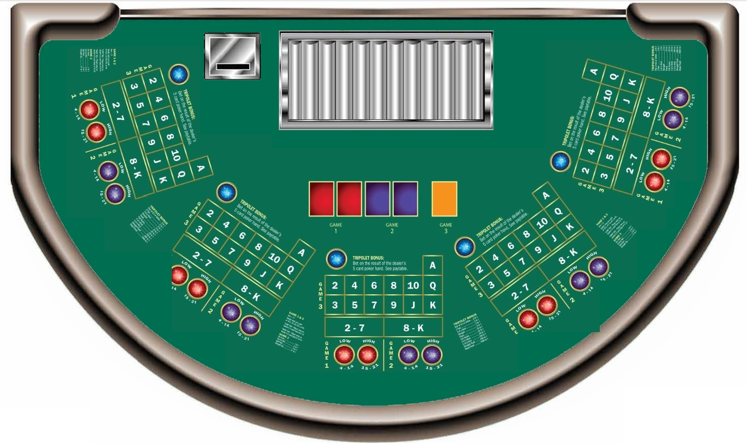 card board gambling games certified